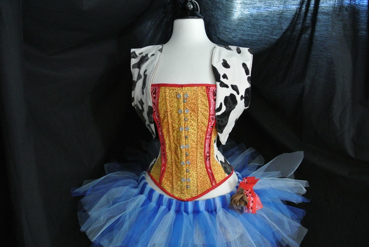 I Am A Toy Story: Disney Pixar's Sheriff Woody inspired Corset and Tutu Costume. $329.00, via Etsy.