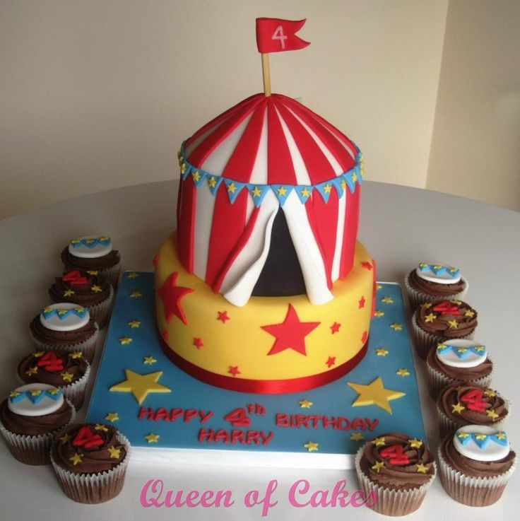 Clown Carnival Cake