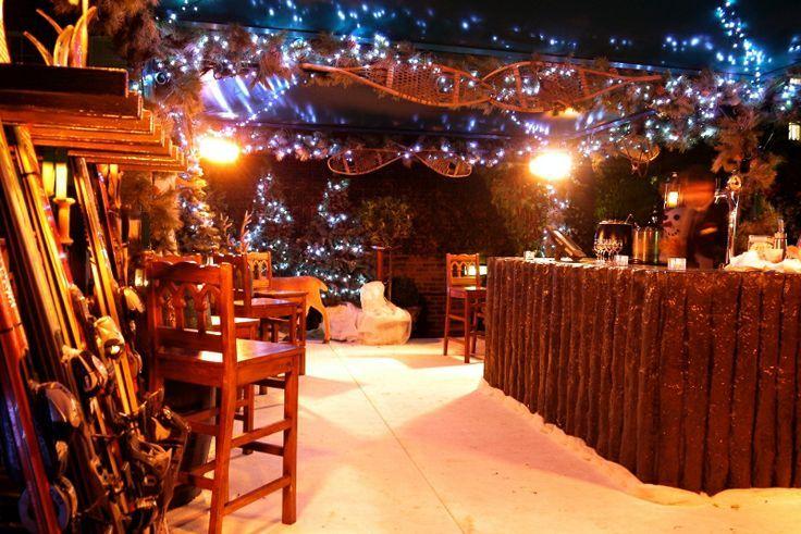 winter ski chalet wedding decor - Google Search