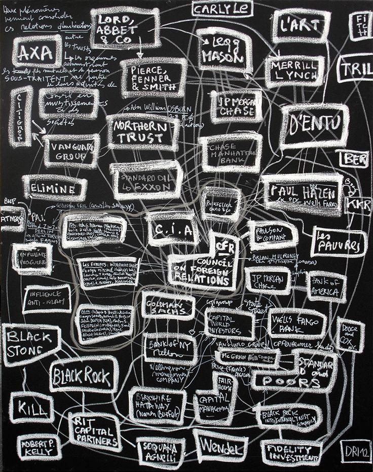 Denis Robert - Les relation étrangères - Acrylique et mixte sur toile - 146 x 114 cm - 2012 - Galerie W - Galerie d'Art contemporain à Paris #galeriew #gallery #w #gallery w #denis-robert @galeriew