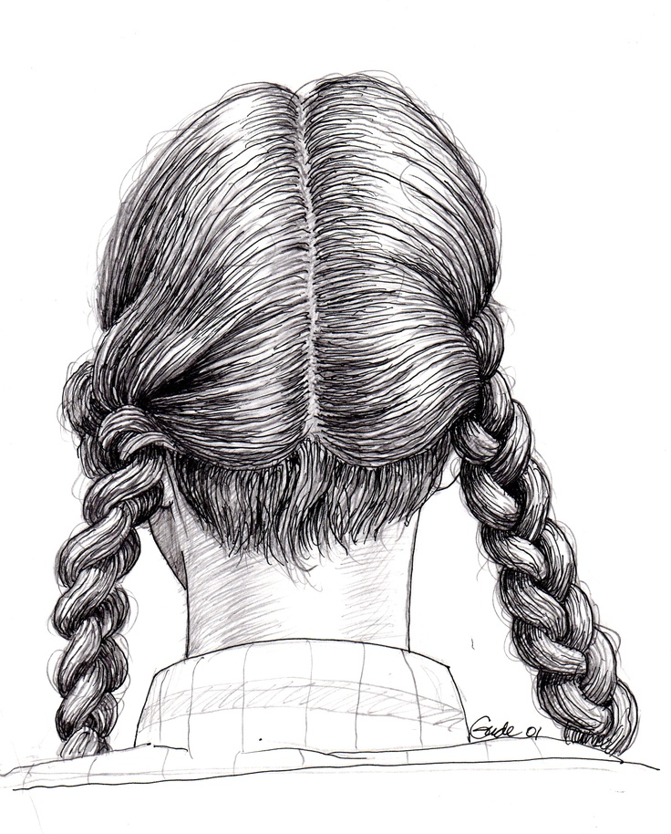This woman with braids sat in front of me during my Metro North RR commute into NYC —Karl Gude