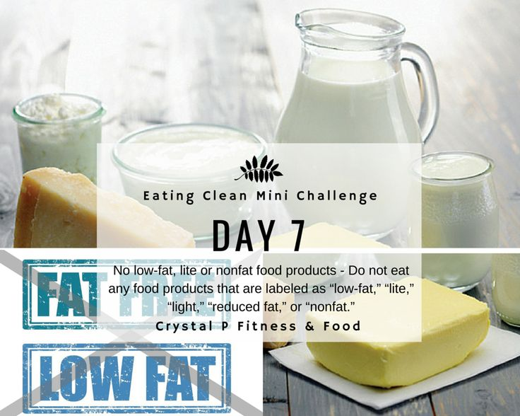 Crystal P Fitness and Food: Day 7 - Eating Clean Mini Challenge