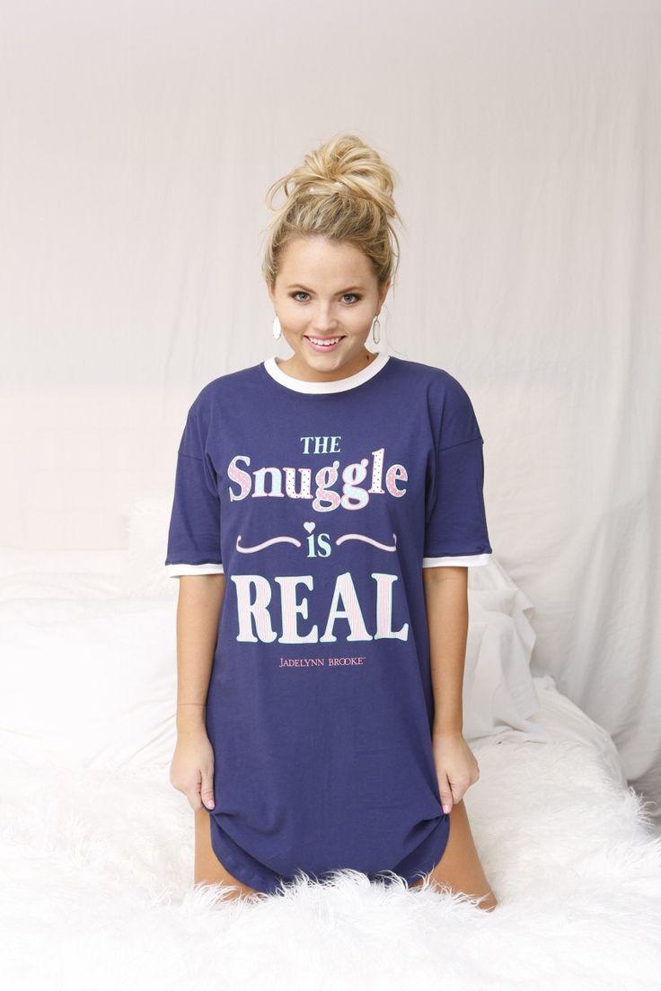"BRAND NEW - Jadelynn Brooke Sleep Shirts!!! ""The Snuggle Is Real - Snuggle-Up Sleep Shirt"" WWW.JADELYNNBROOKE.COM"