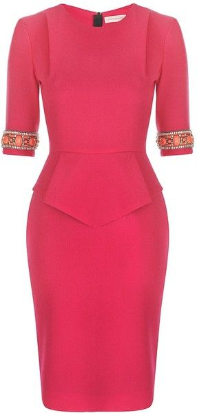 MATTHEW WILLIAMSON ENGLAND Wool Crepe Tailoring Pleat Pencil Dress