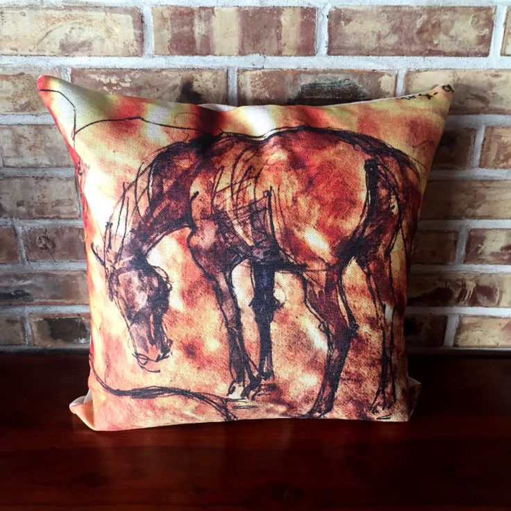 #Rustic #Modern #Décor #Horse #Linen #Decorative #Pillow Cover by #HorseEyeDesigns on Etsy