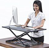 ad:  Table jack Standing desk converter - 32 X 22 inch Extra large Ergonomic height adjustable sit stand up desk converter that can act as…