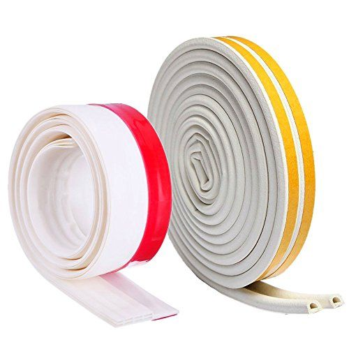 Weather Stripping kit - Self Adhesive 39.37 Inch Door Sweep & 9.84 Feet Door Seal #Weather #Stripping #Self #Adhesive #Inch #Door #Sweep #Feet #Seal