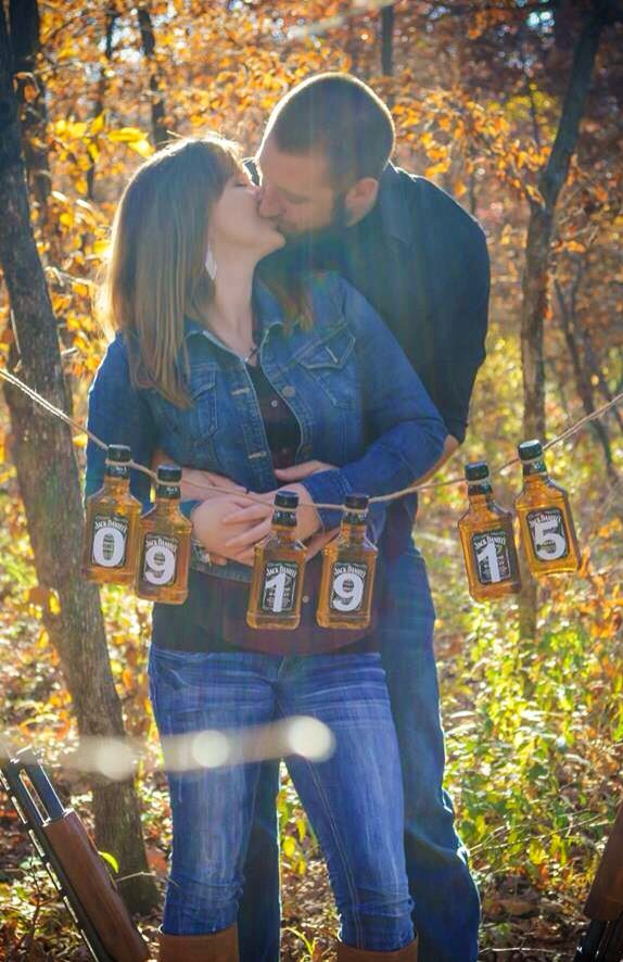 Jack Daniels wedding---save the dates picture