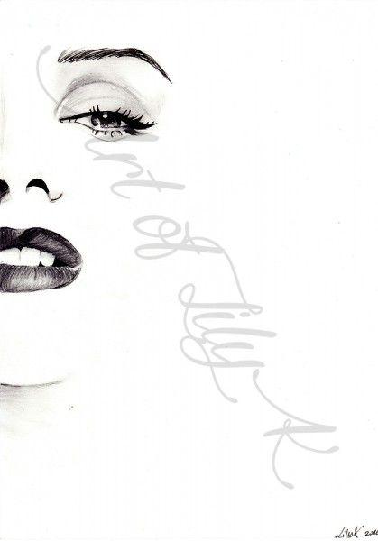 Minimalist Marilyn Monroe drawing