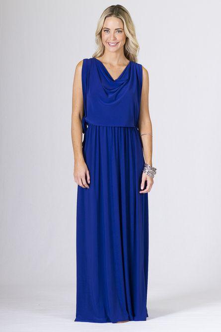Rubie Maxi Dress - Cobalt