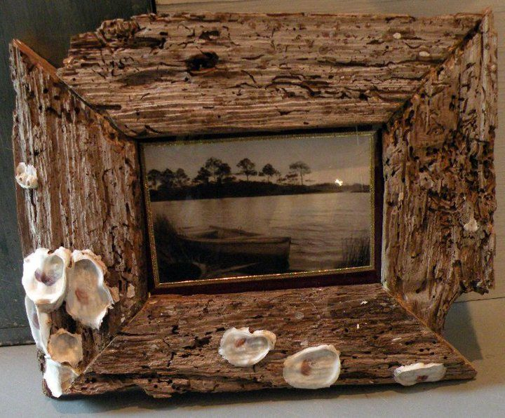 Driftwood Picture Frames and Lamps
