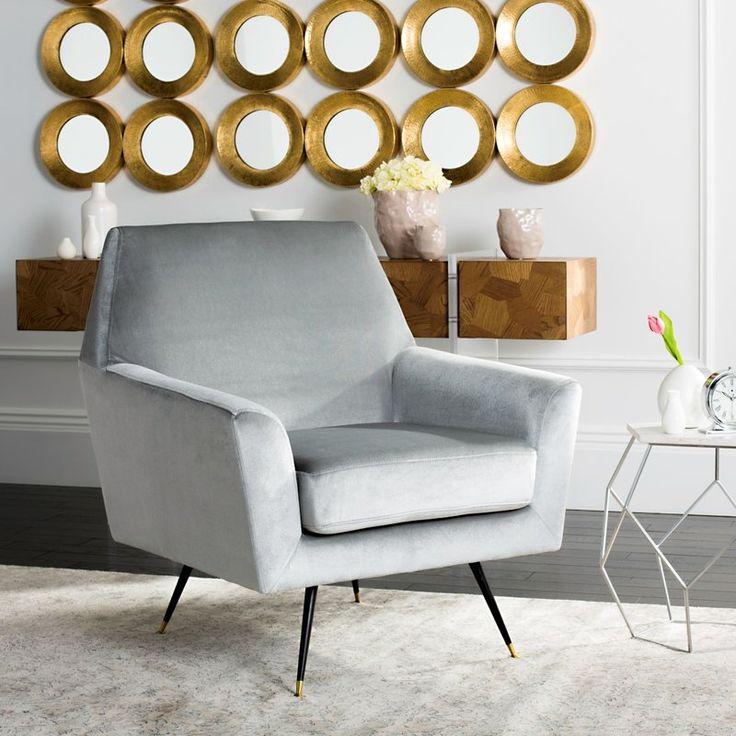 Somerton Velvet Retro Mid Century Armchair