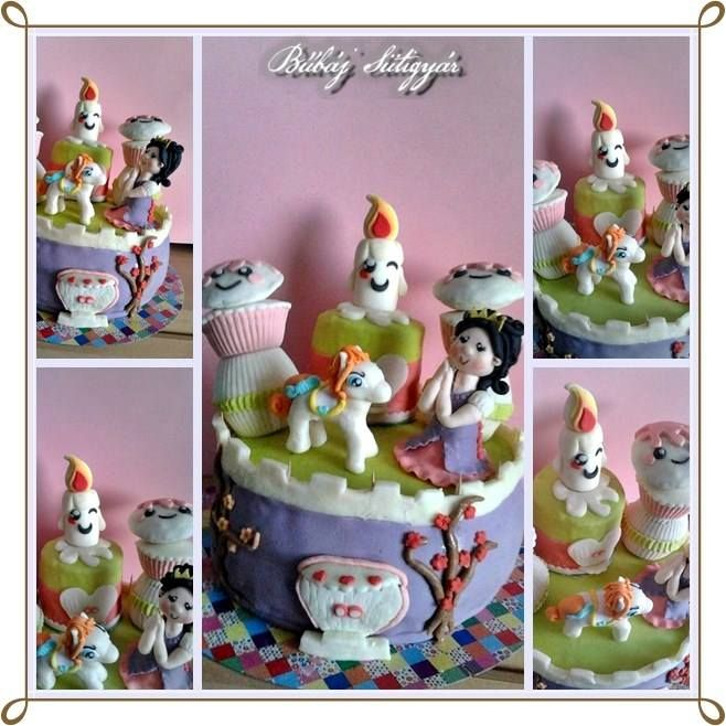 Pricess, poni, fondant cake Look at my pages https://www.facebook.com/BubajSutigyar