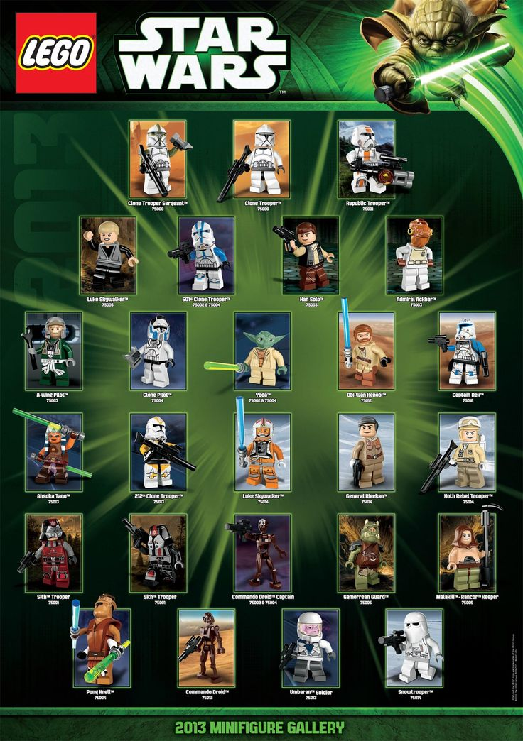LEGO Star Wars 2013 Minifigure Gallery--had to pin this for Brody--he will love this