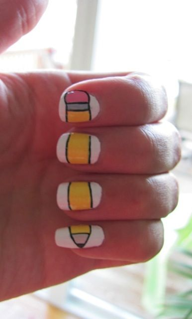 Back To School Pencil Nails