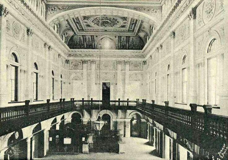 1903 - Interior do hall de entrada da Estação da Luz.