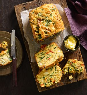 Feta and vegetable loaf
