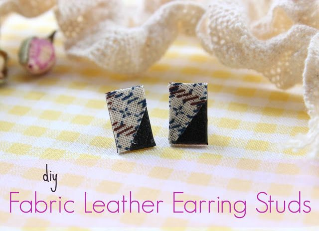 DIY Fabric Leather Earring Studs!!!