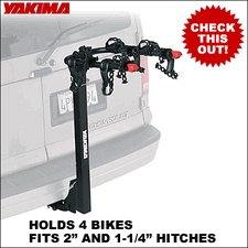 Yakima KingPin 4 Hitch Bike Rack  for 1-1/4 & 2 Trailer Hitches - 8002401