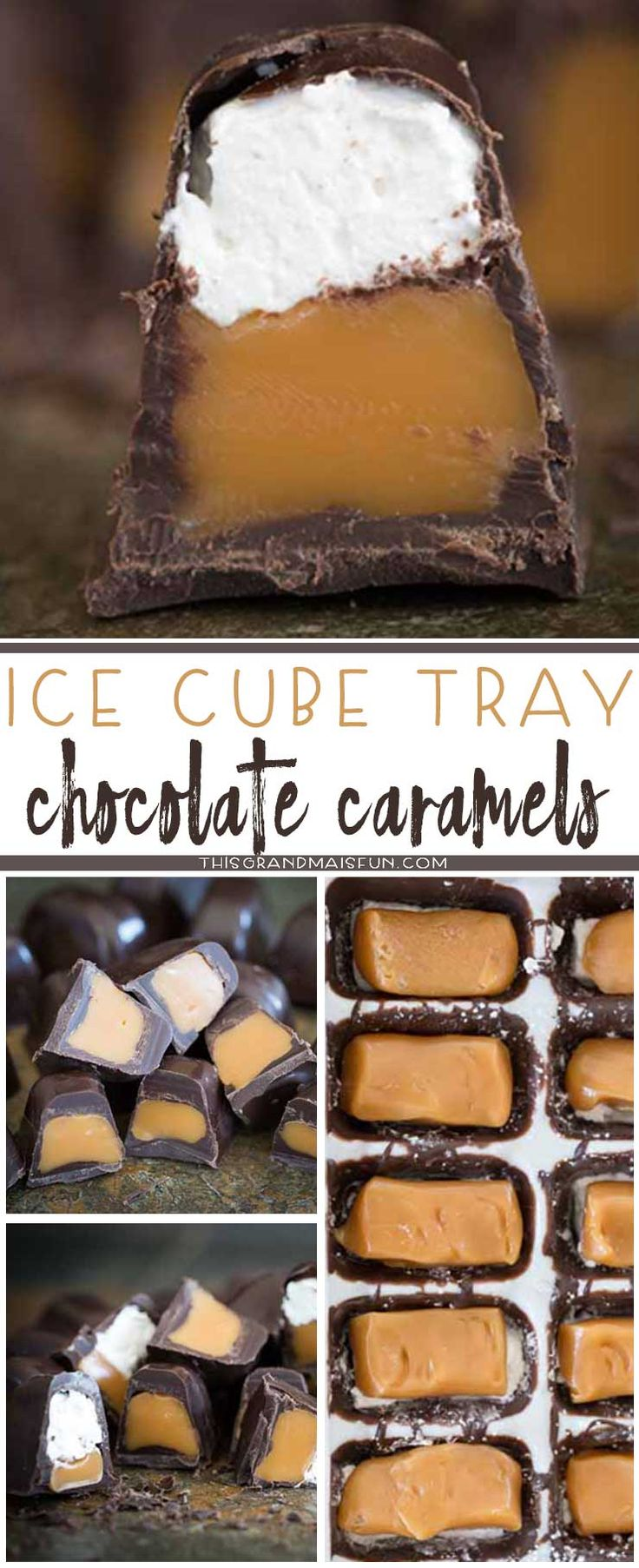 These Ice Cube Tray Chocolates are SO fun and easy to make! Within minutes you can have a filled chocolate candy to give as gifts or to eat for yourself.