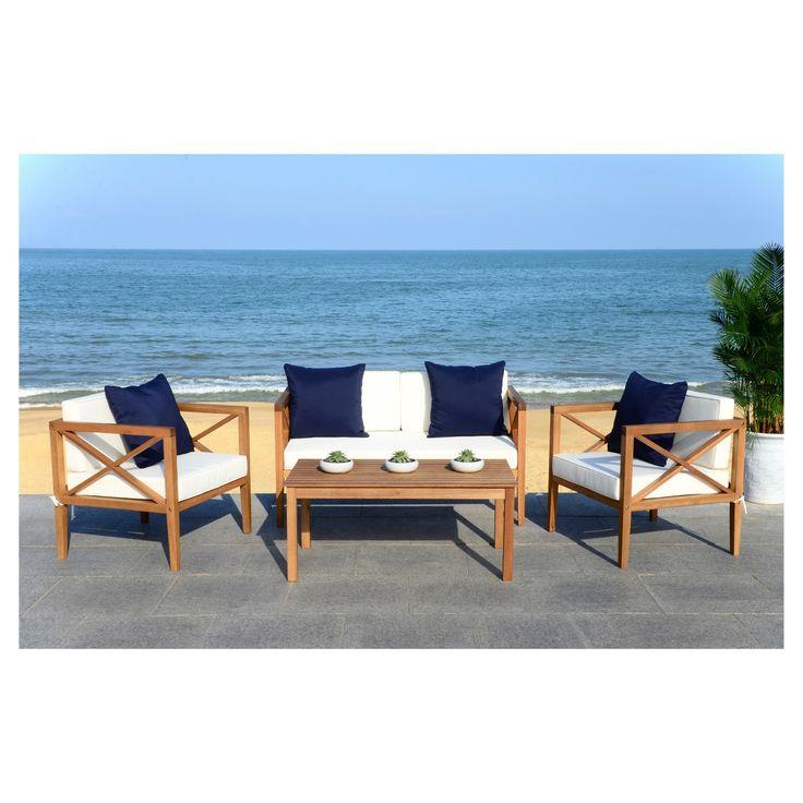 Nunzio 4pc Seating Set - Safavieh | Patio seating sets ... on Safavieh Alda 4Pc Outdoor Set id=58857