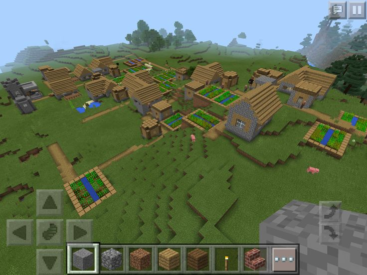 Awesome Minecraft PE seed: Two villages (one HUGE) and a Witch Hut!