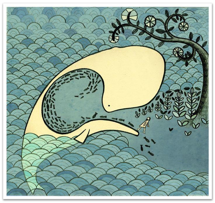 """""""Jonah"""" illustrazione di Violetta Testacalda"""
