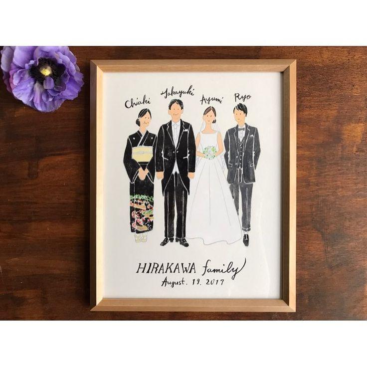 結婚式でのご両親へのプレゼントに。 家族の肖像をオーダーいただきました☺︎ 普段着やお気に入りのお洋服、 式に出る留袖やモーニングなど お好きなコーディネートでお描きいたします。 おめでとうございます🎈 過去の作品は #cuicui_illustboard でご覧いただけます #cuicui_wedding #家族の肖像 #両親贈呈品 #両親へのプレゼント #ご両親贈呈 #welcomeboard #welcomespace #illustration#illustrator #bridal #wedding #プレ花嫁#花嫁#ウェルカムボード #ウェルカムスペース #イラスト #イラストレーション#新郎新婦#結婚式#結婚準備 #結婚式場 #ウェディングドレス #instagood #instawedding #flower #結婚準備 #bouquet