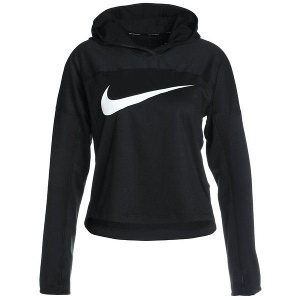 Nike Performance DRY HOODIE CORE Hoodie ❤ liked on Polyvore featuring tops, hoodies, nike tops, nike hoodie, hooded pullover, nike and white and black top
