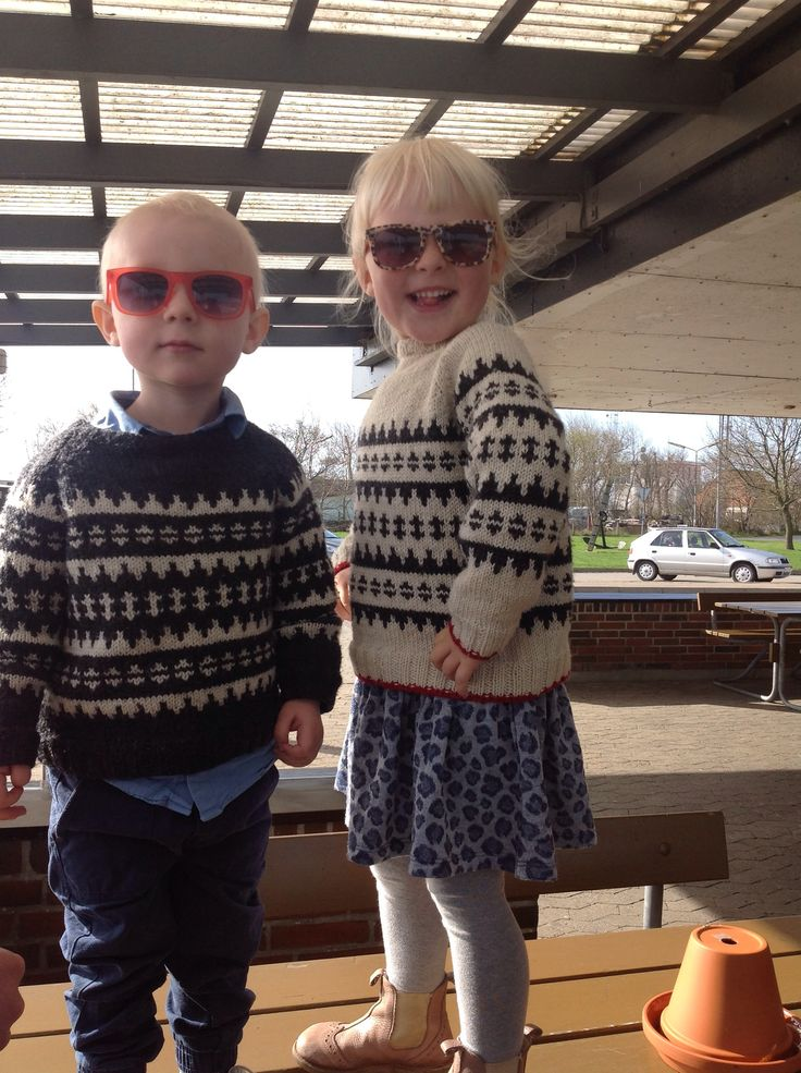 My babies...home made sweaters by my mum :-)
