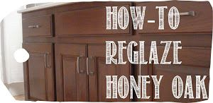 Anything Pretty: How-To: Reglaze Honey Oak using glaze and paint.  Like how this doesn't highlight the grain like a dark stain would.