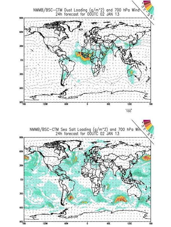 El BSC-CNS contribuye a la iniciativa de comparación de modelos globales de pronóstico de aerosoles ICAP con su sistema NMMB/BSC-CTM.   El BSC-CNS se ha unido a la iniciativa internacional de comparación de modelos de aerosoles globales atmosféricos ICAP (International Cooperative on Aerosol Prediction). En esta iniciativa participan cinco de los más prestigiosos centros de predicción meteorológica e investigación atmosférica mundiales.