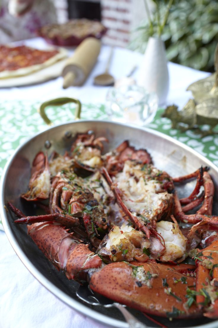 2lb Lobster, Butter, Burbon, White Wine and Herbs. Call me Happy:) AJ's New England Dirty Lobster...as seen (and tasted) on MasterChef USA/FOX