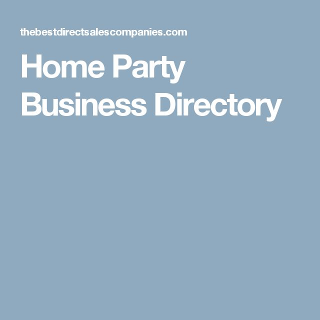 Home Party Business Directory