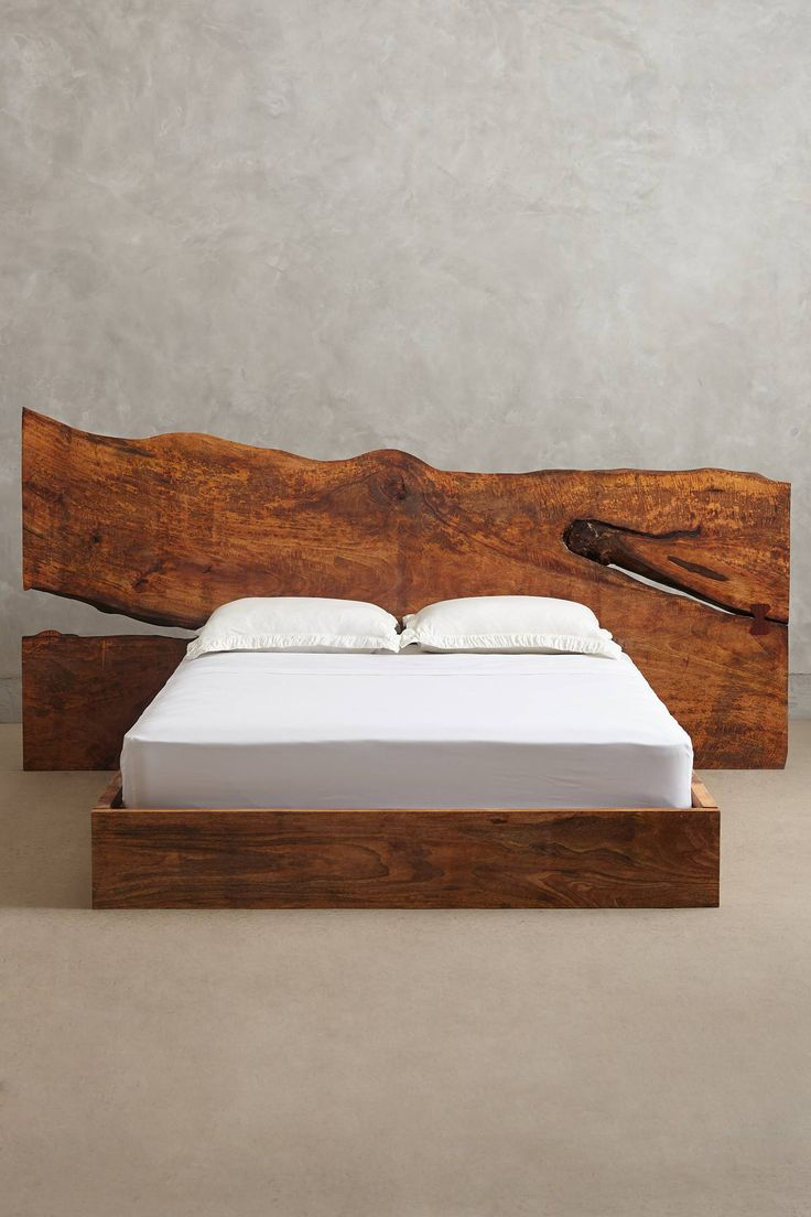 Live Edge Wood Bed Anthropologie Com Wood Beds Wood