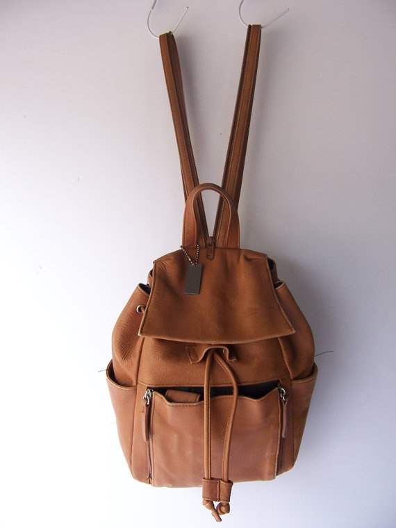 Vintage Brown Backpack by ToatsMcgoats on Etsy