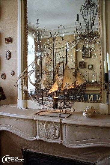 "Truly stunning, a ship of wire from the ""Vox Populi"" line by Pascale Palun in Avignon, France. Old world beauty."