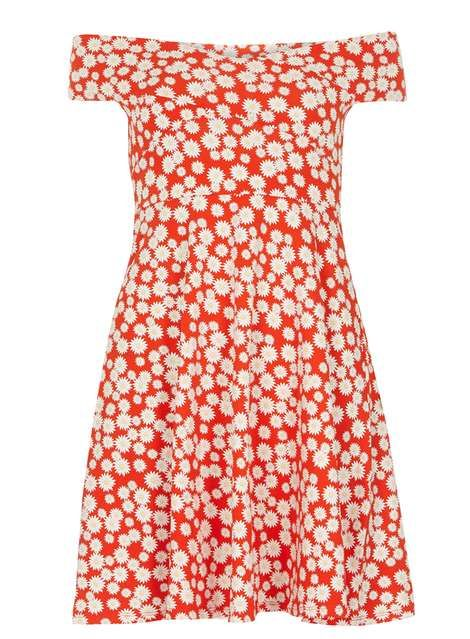 Red Daisy Bardot Dress, £20