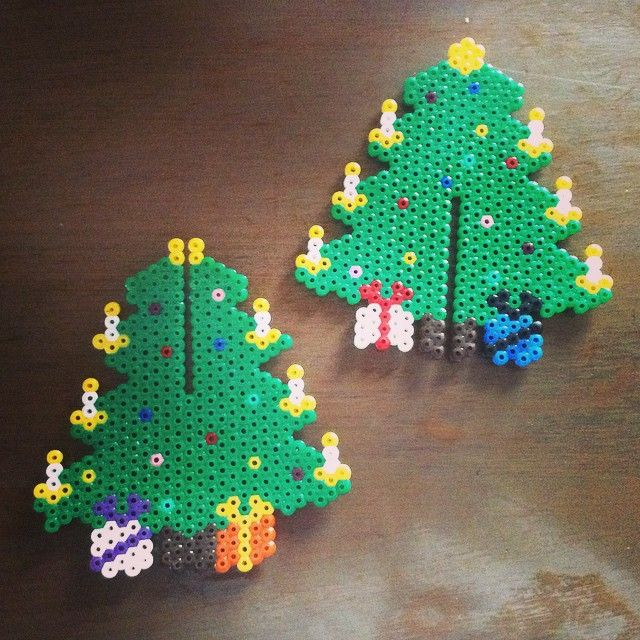 3D Christmas tree hama beads by maaaryi0n