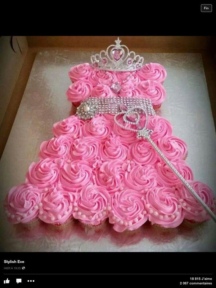 Robe Princesse Cupcake Gateau Pinterest