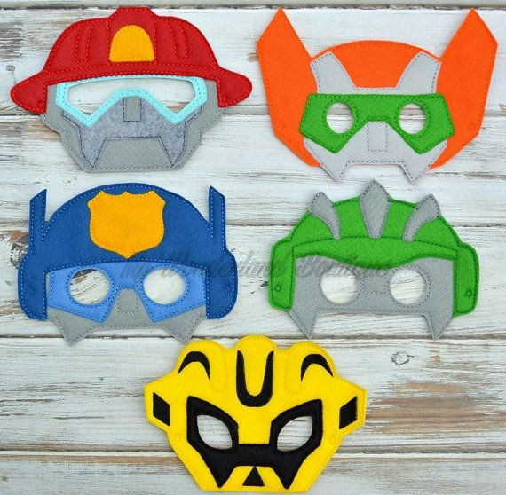 Transformer Rescue bots mask by MyWonderlandBoutique on Etsy