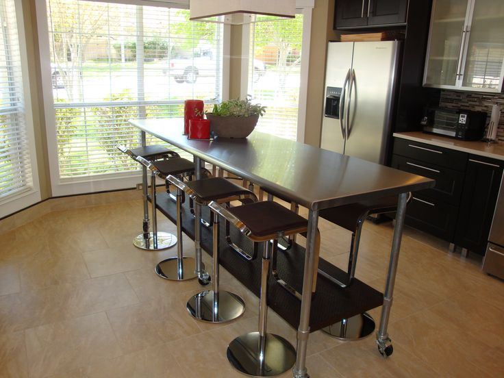 Commercial Grade Stainless Steel Rolling Kitchen Island