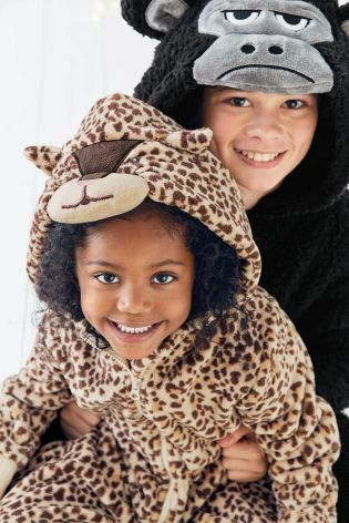 Buy Leopard Fleece All-In-One (3-16yrs) from the Next UK online shop
