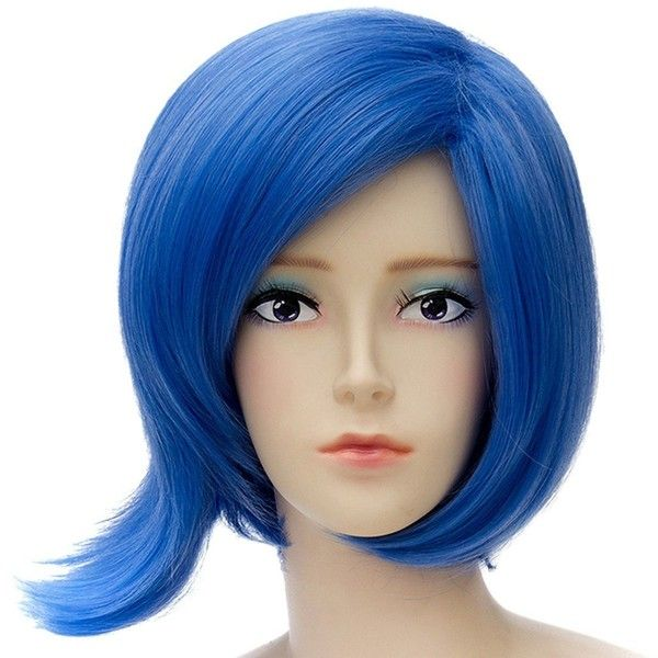 Inside Out Anime Cosplay Blue Wigs Fashion Party Joy/Sadness Haircut... ($13) ❤ liked on Polyvore featuring costumes, party animal costume, cosplay costumes, animal costumes, role play costumes and party animal halloween costume
