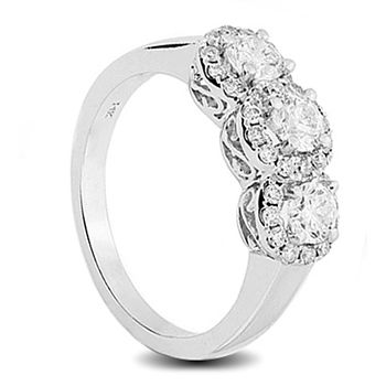 14c white gold diamond engagement rings with claw set diamonds from grace collection wedding rings