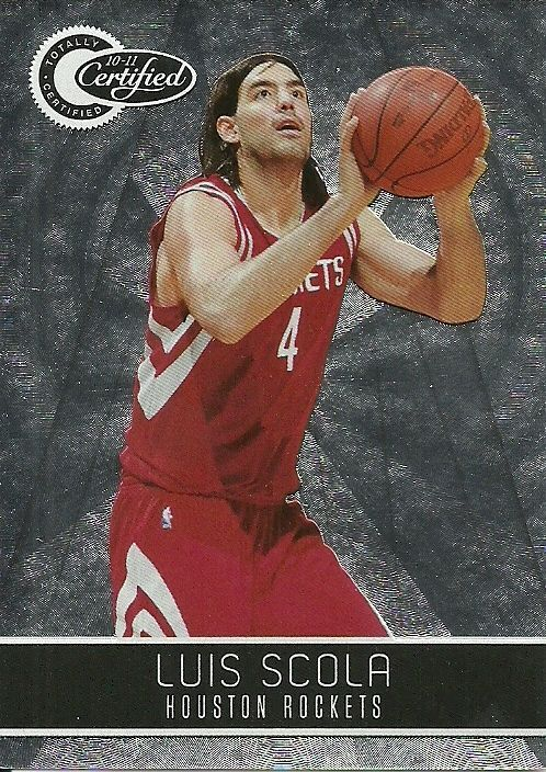 2010-11 TOTALLY CERTIFIED #112 LUIS SCOLA ROCKETS 1123/1849 50 CENT SHIP…