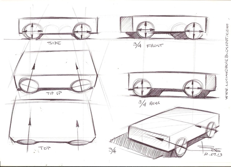Car drawing tips by Luciano Bove   Car Design Education Tips