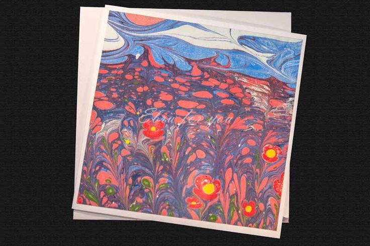Ebru For You| Hand-Made And Unique Ebru Greeting Cards