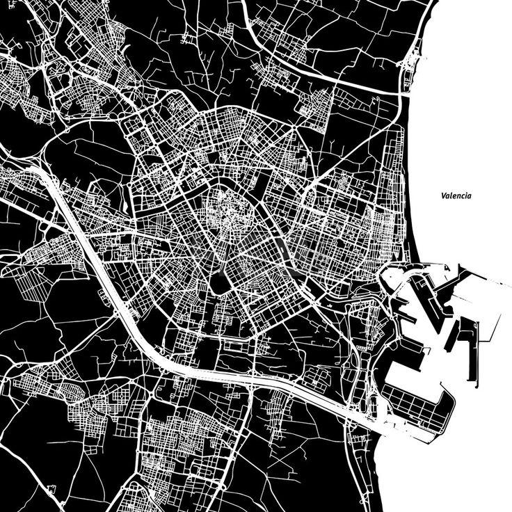 Royalty Free Map%0A Valencia Vector Map