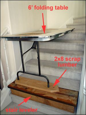 Painting Stairs Walls With A Do It Yourself Scaffold